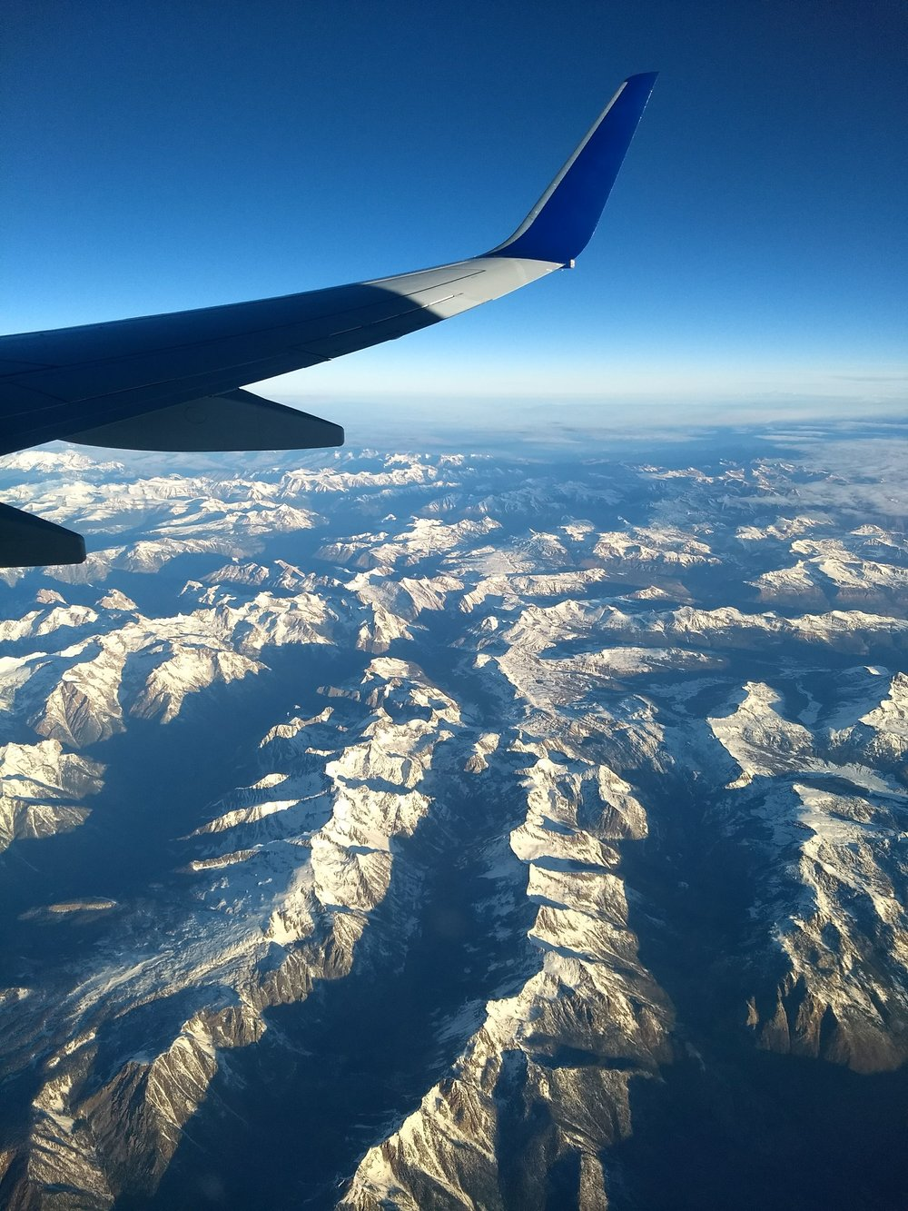 Some mountains from when we were flying over Colorado