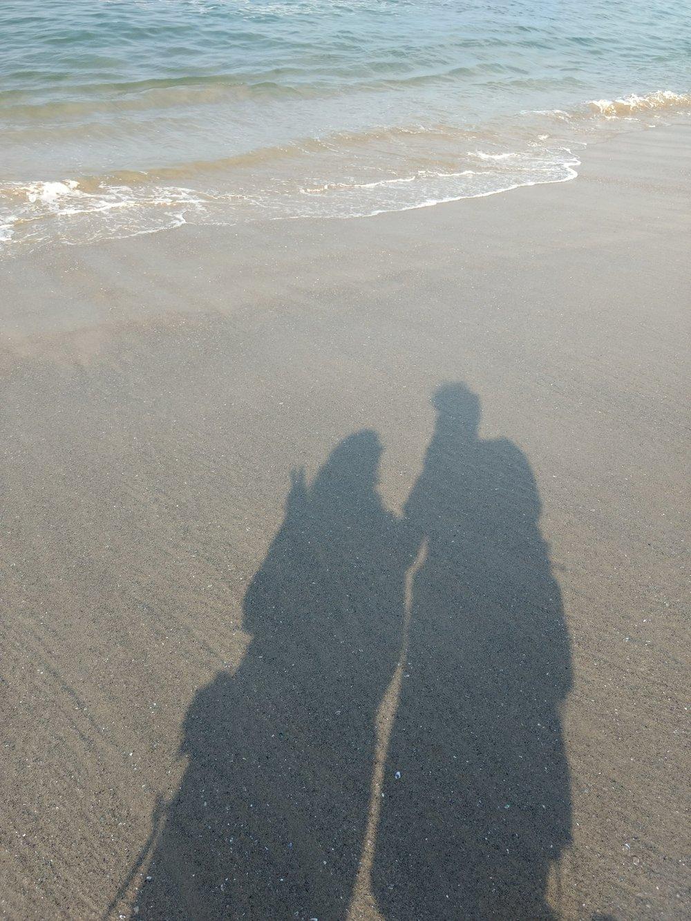 Walking along Venice Beach! Perfect weather.