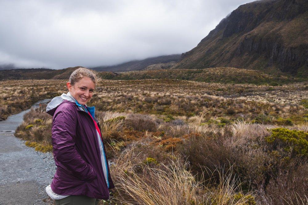The beginning of the Tongariro Alpine Crossing!