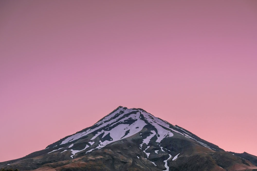 sunset over Taranaki