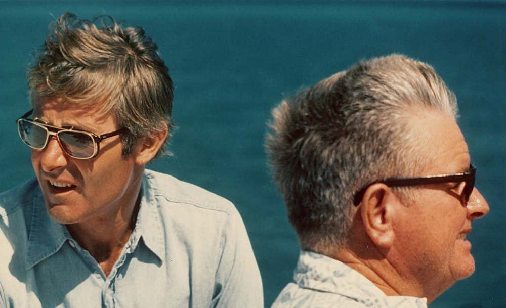 Peter Benchley and Teddy Tucker