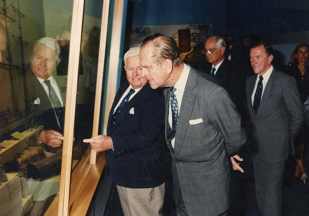 Prince Philip visiting BUEI