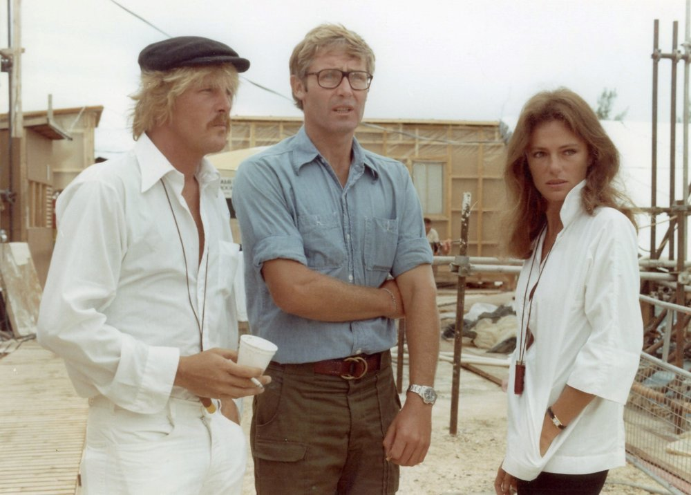 Peter on set with Nick Nolte and Jacqueline Bisset