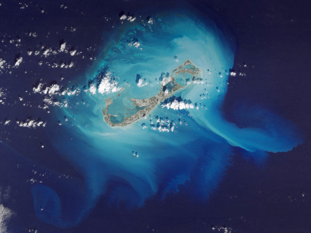 Sand loss from Bermuda's reef platform after a recent storm