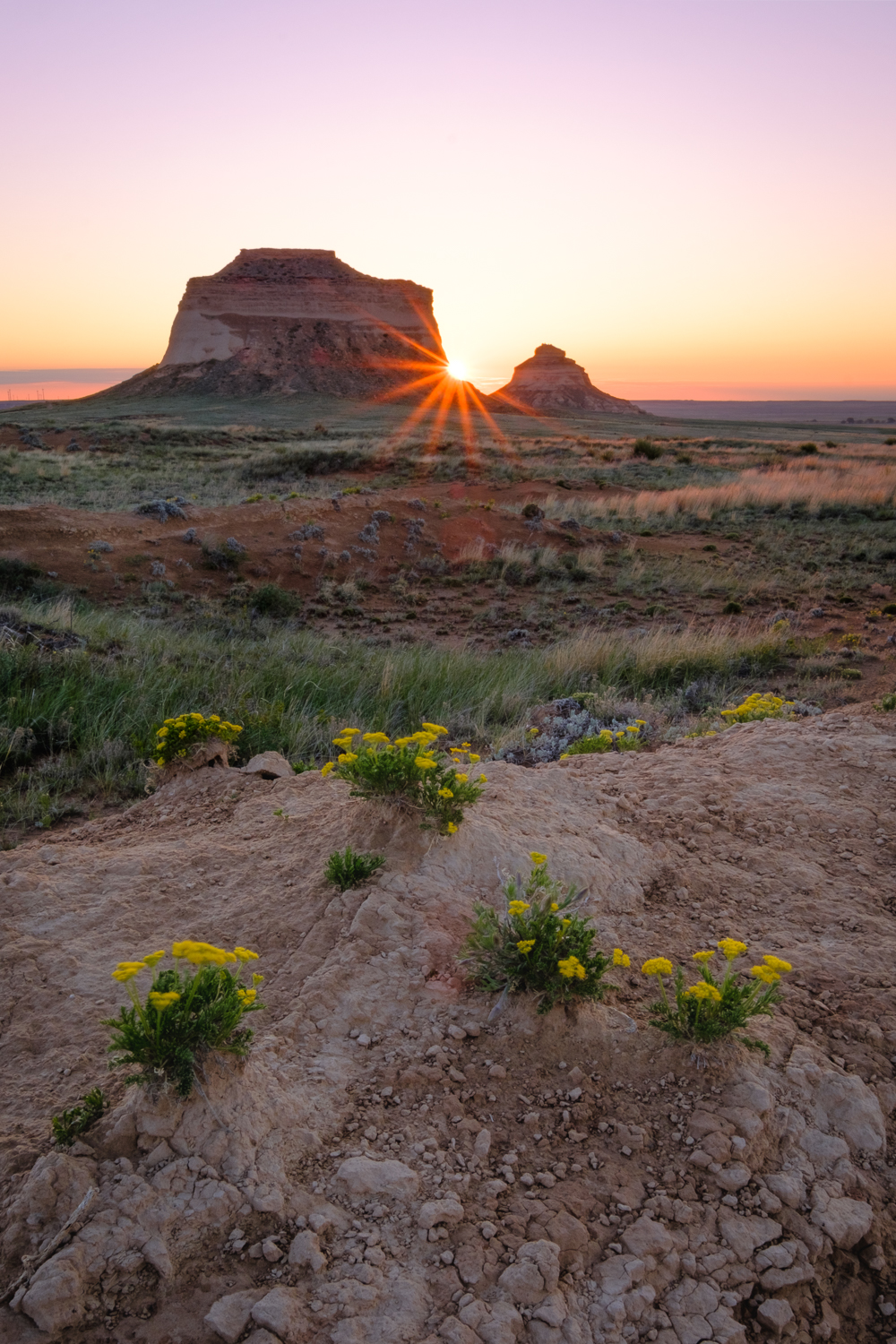 Sunrise at Pawnee Buttes, in Pawnee National Grassland, CO