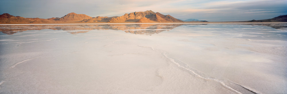 Bonneville salt flats at sunrise. Ektar 100, 1/2 sec, f/40.