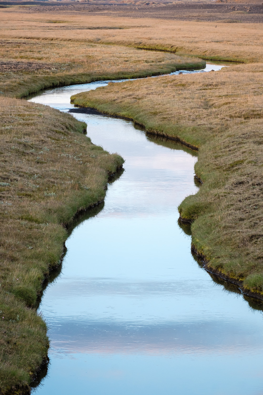 A stream crossing the Ring Road east of Reykjahild