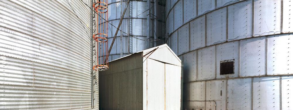 Washtucna, WA grain elevators. Ektar 100, 1/30 sec, f/18.