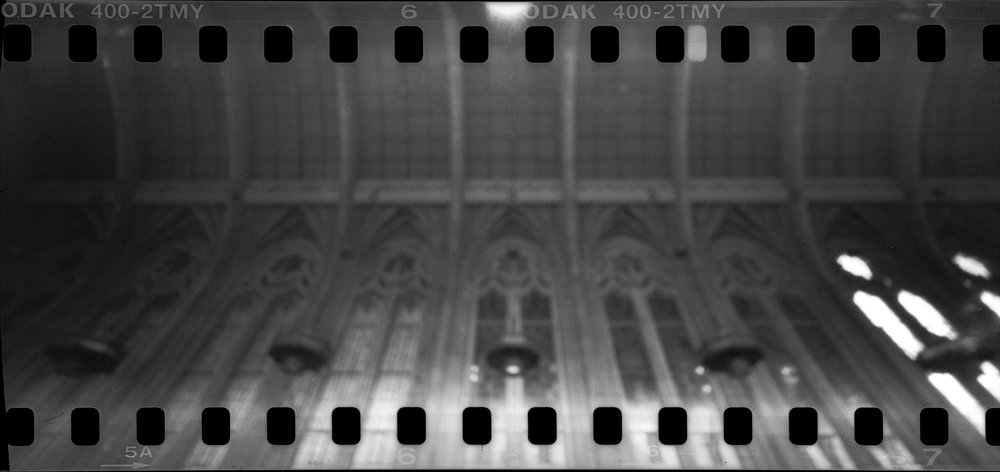 The ceiling of the Suzzallo Reading Room. 60 second exposure.