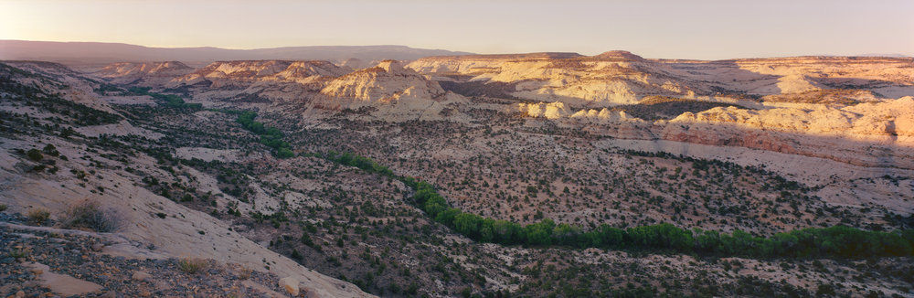 Dry Hollow Creek from The Hogsback of Highway 12, between Boulder, UT, and Escalante, UT. Ektar 100, F/16, 1/8 sec.