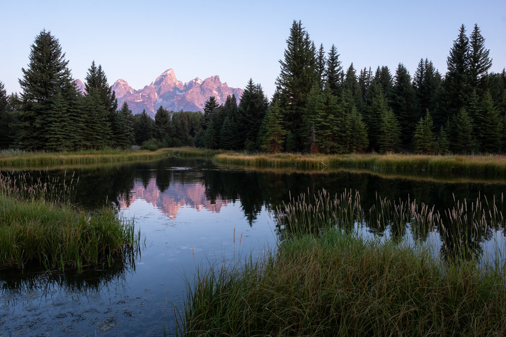 Sunrise on the Grand Teton from Schwabacher's Landing