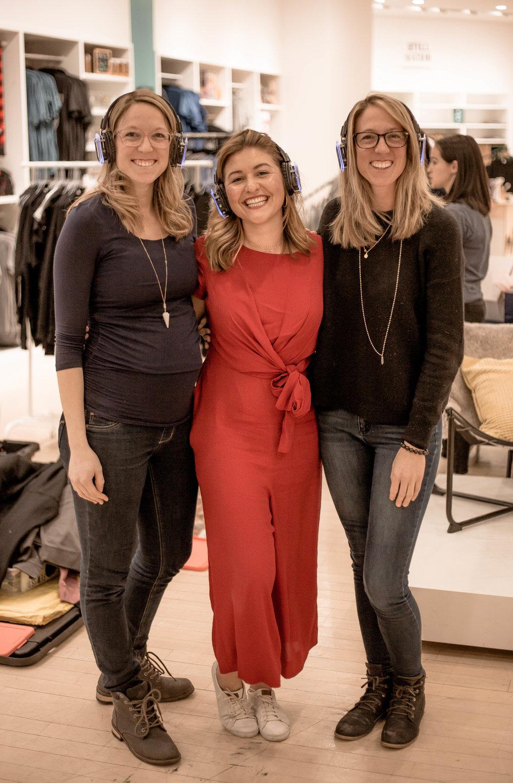 Dr. Erin, Vanessa, and Dr. Elizabeth after a meditation event.