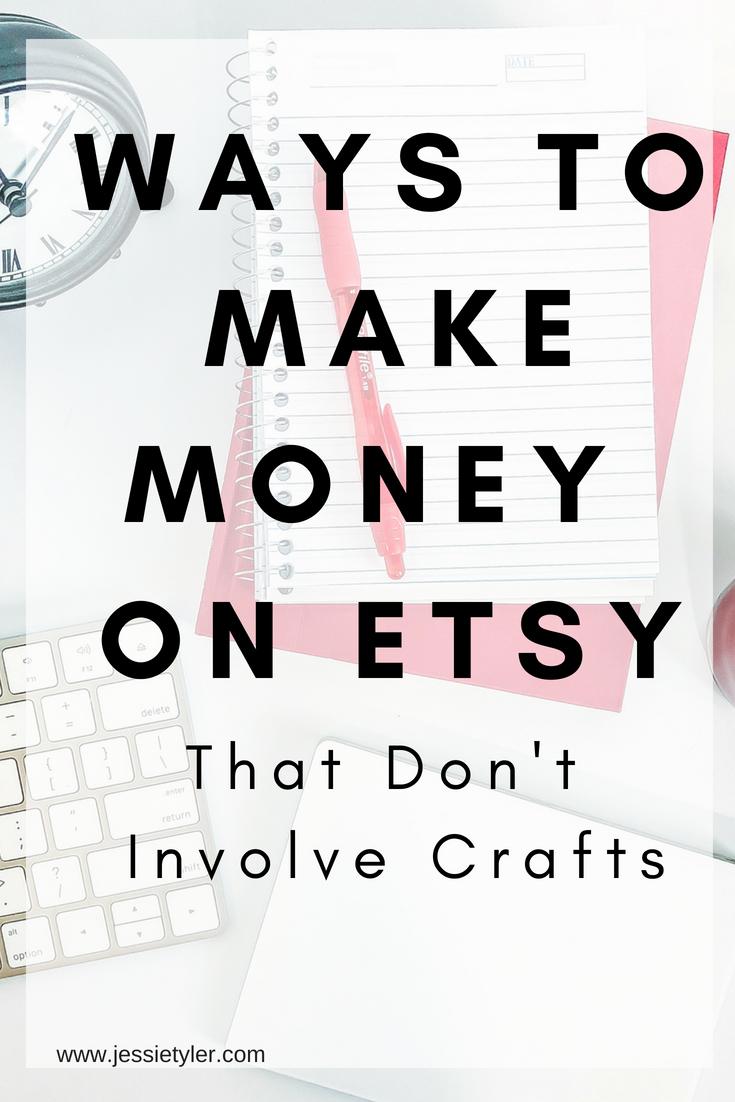 ways to make money on Etsy