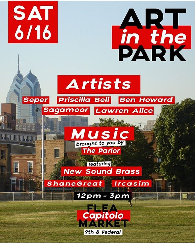 Catch us at Capitolo Park tomorrow (across from Pat's & Geno's) making art & playing beats