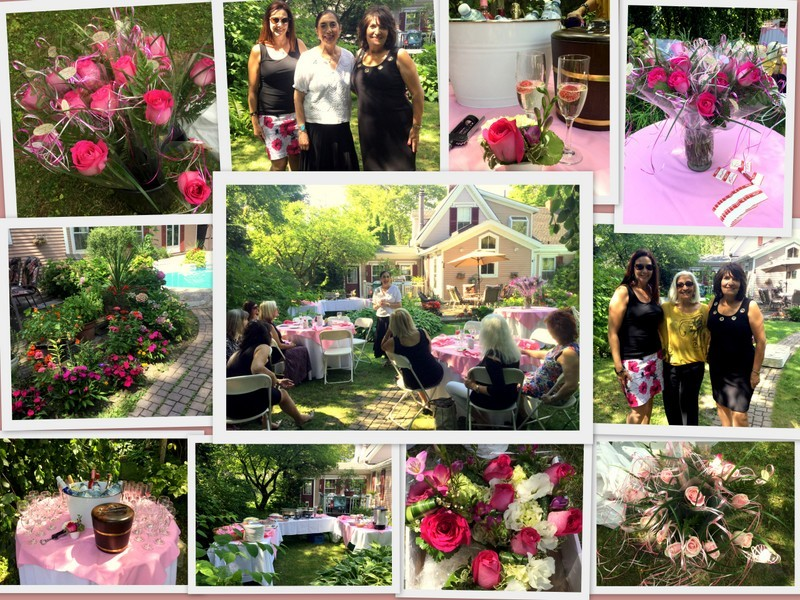 Lovely day for a garden party in Angie's Secret Garden Gallery!  Great afternoon filled with food, drinks and congeniality amongst a group of local professional women!