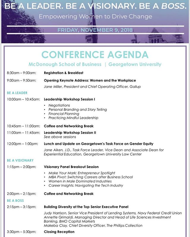 Haven't signed up for GWiB Conference yet? Do it now or regret not attending these 👆🏼 awesome sessions. Link up 🔝 #gwibconference2018 #beaBOSS