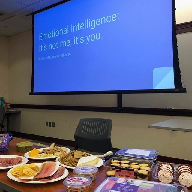 Please join us for our emotional intelligence session happening now in room 145. Plenty of food and drinks :)