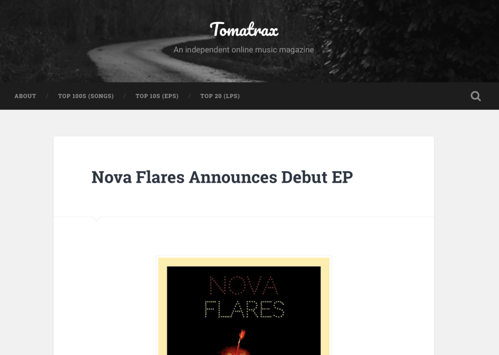 Tomatrax Music Mag. : Nova Flares // EP Review