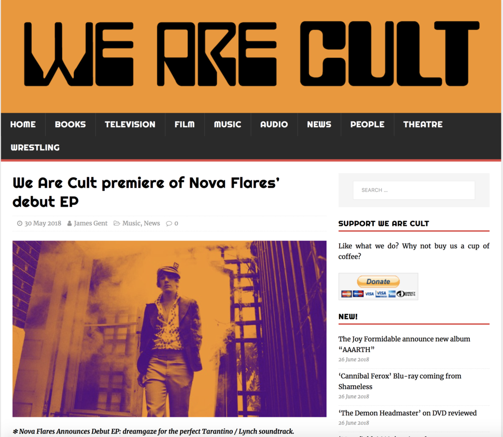 We Are Cult : Nova Flares EP Premiere