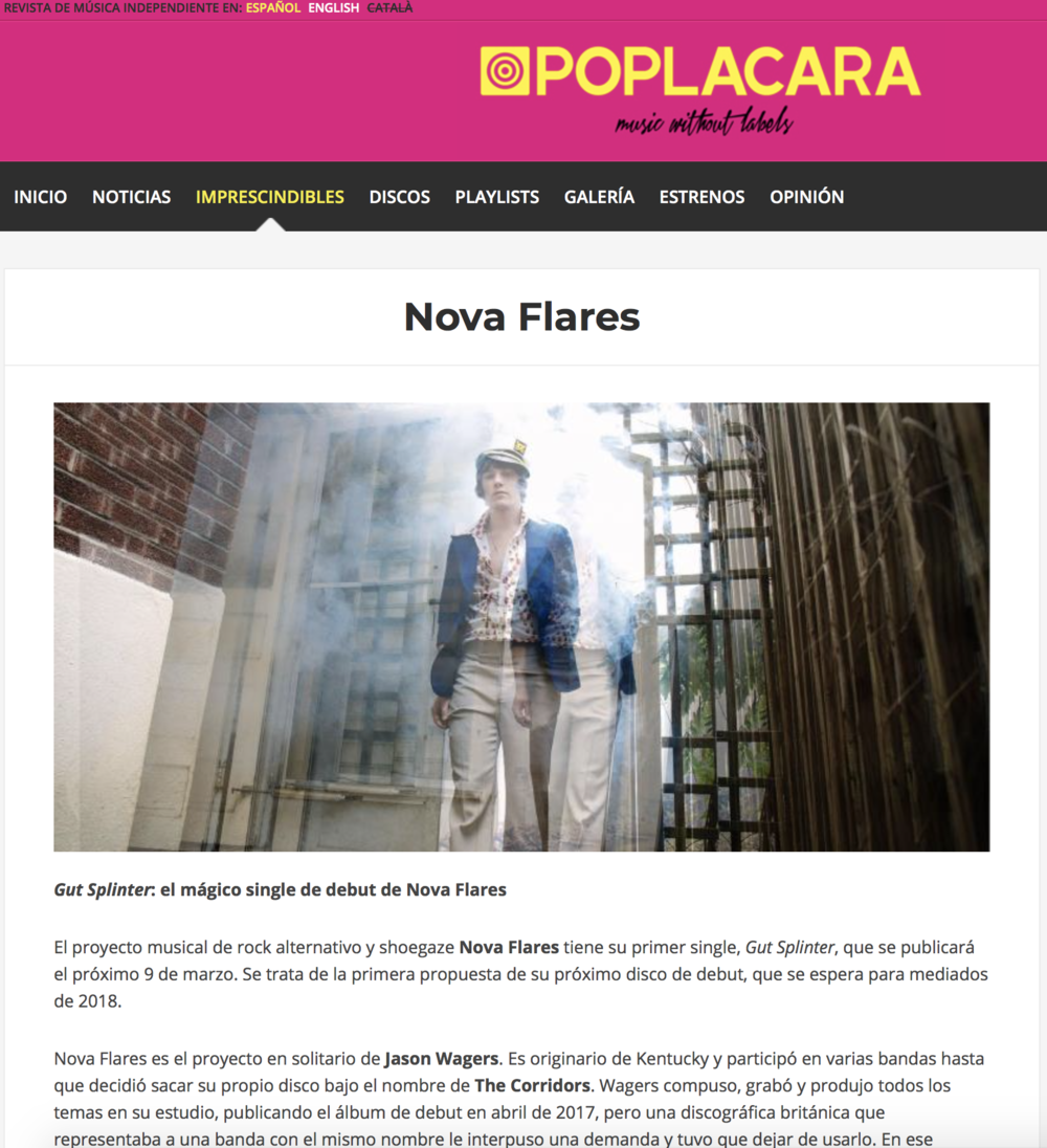 Revista De Musica : Nova Flares Article