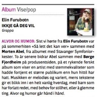 Første anmeldelse av mitt kommende album. Humor og alvor går hånd i hånd! Fin den😀 #vårtland #anmeldelse #nyttalbum