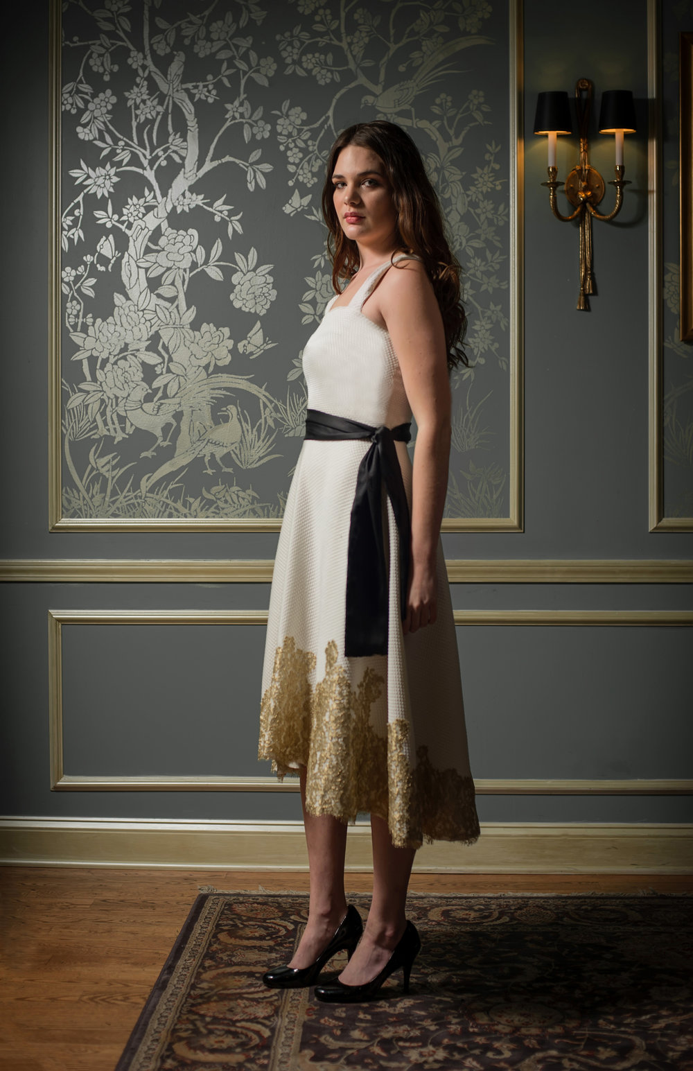 Pique with gold lace dress.jpg