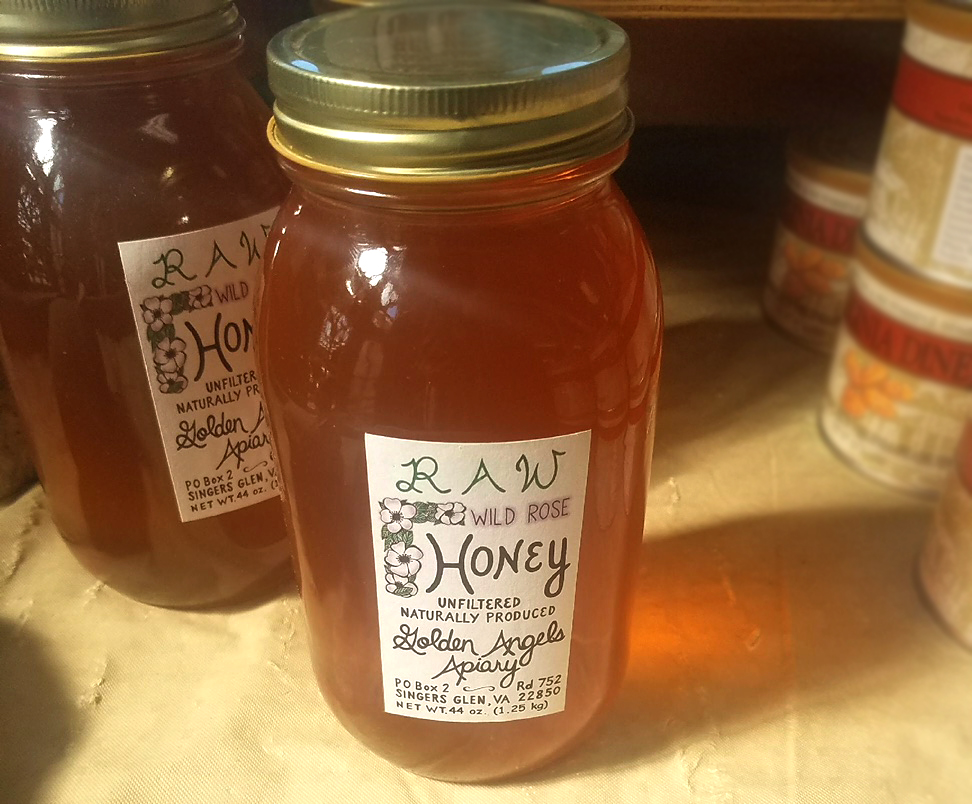 Raw Wild Rose Honey, Golden Angels Apiary, VA