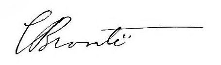 Charlotte Brontë's signature