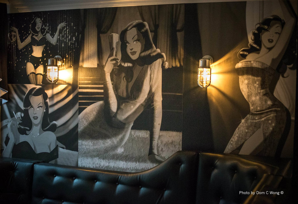 BAR 83, HERTFORDSHIRE -     A PRIVATE MEMBERS CLUB, NOW TURNED PUBLIC VENUE, LICENSED THE CHARACTER VESHA VALENTINE TO ADD A BIT OF STYLE TO THEIR VIP BOOTHS.