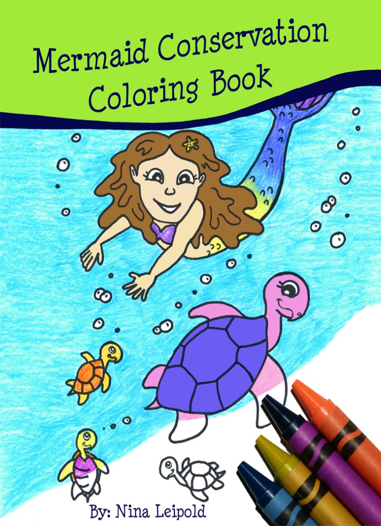 Mermaid Conservation Coloring Book - Softcover