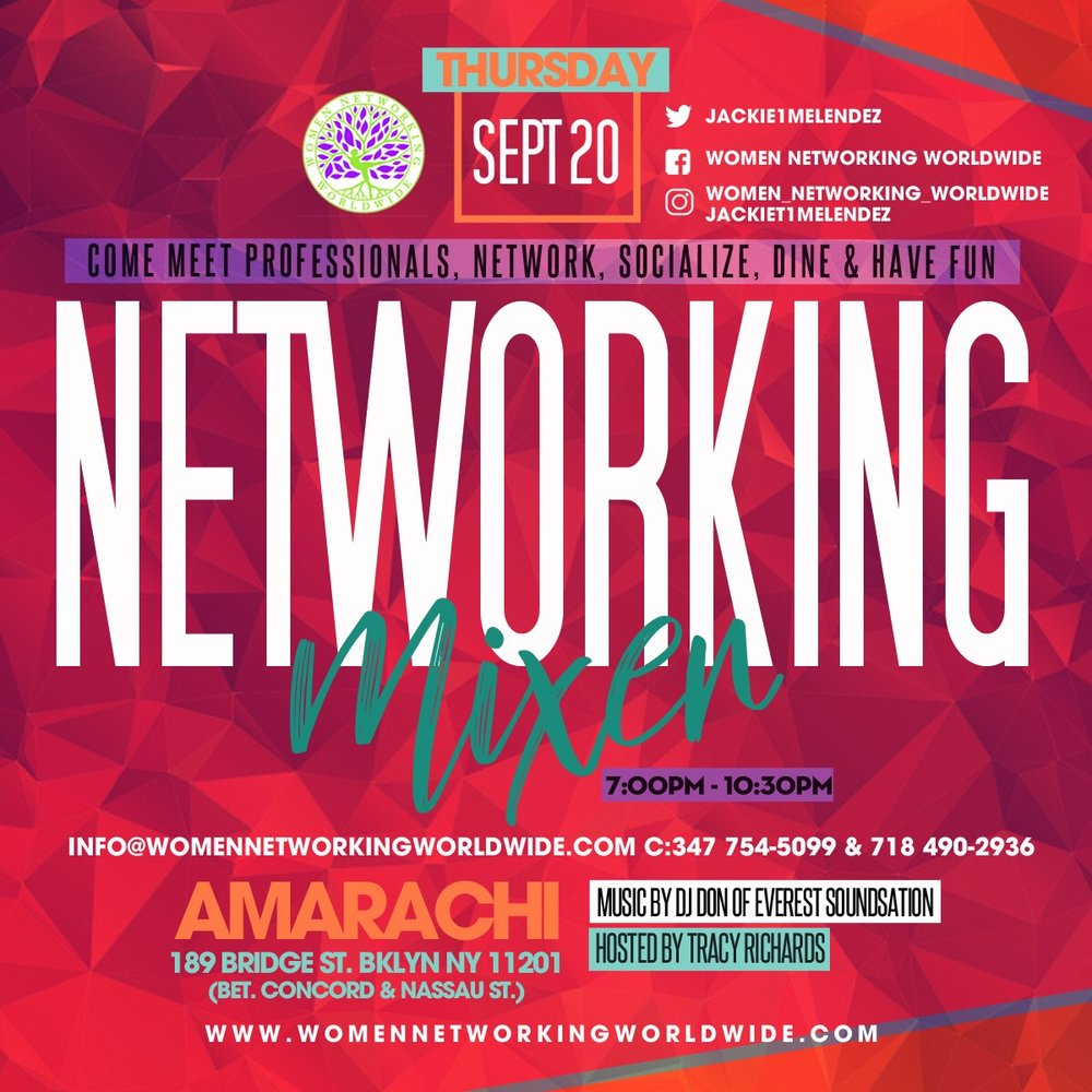 COME MEET WITH PROFESSIONALS, NETWORK, SOCIALIZE, DINE AND HAVE FUN.   All Women Networking Worldwide guests will receive a swag bag and will be submitted into a raffel to win a   VIP Ticket to our First Anual Networking Mixer on October 18th, 2018.