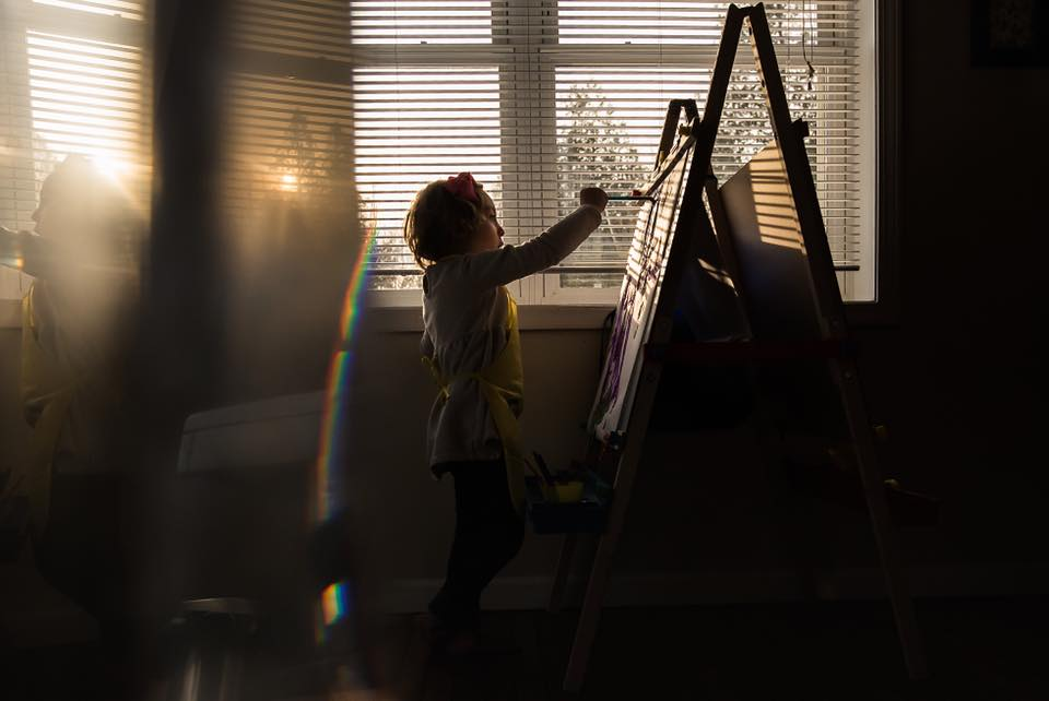 Holly Nicole is always sharing just beautiful moments of childhood she has captured within our group and we are so very grateful for the eye candy! Here she is experimenting with a prism and beautiful light!