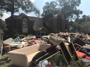 Destruction caused by Hurricane Harvey
