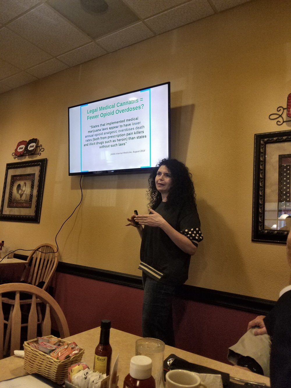 Dr. Sisely explaining how legalized medical cannabis leads to a reduction in opiate overdoses.