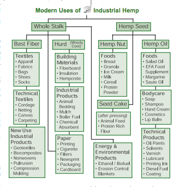 A few of the potential products our state could produce from hemp.