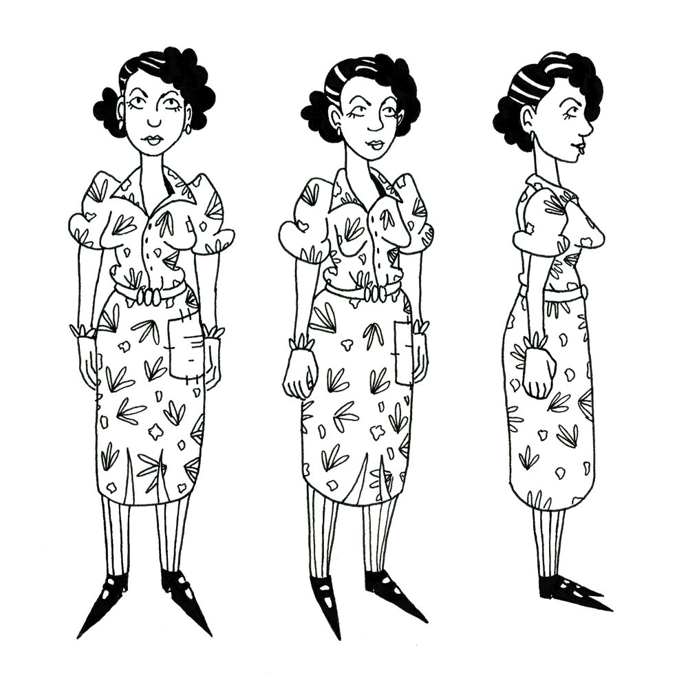 Venus Turnaround for   We Broke a Clock  (ink)