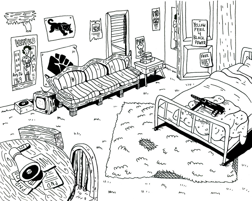 Interior Environment Concept for  We Broke a Clock  (ink)