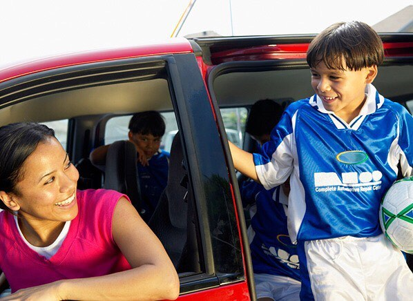 Are you carpooling with kids? Here are some safety tips to keep you and your children safe while sharing a ride:  1.Set a good example for your kids, always make sure your kids buckle up first, then you do the same. 2. If you are the only adult, keep parent's contact information on hand in case of an emergency. 3. Be sure that you have proper riding essentials to ensure a safe ride. Ex: booster seats, car seats, etc.