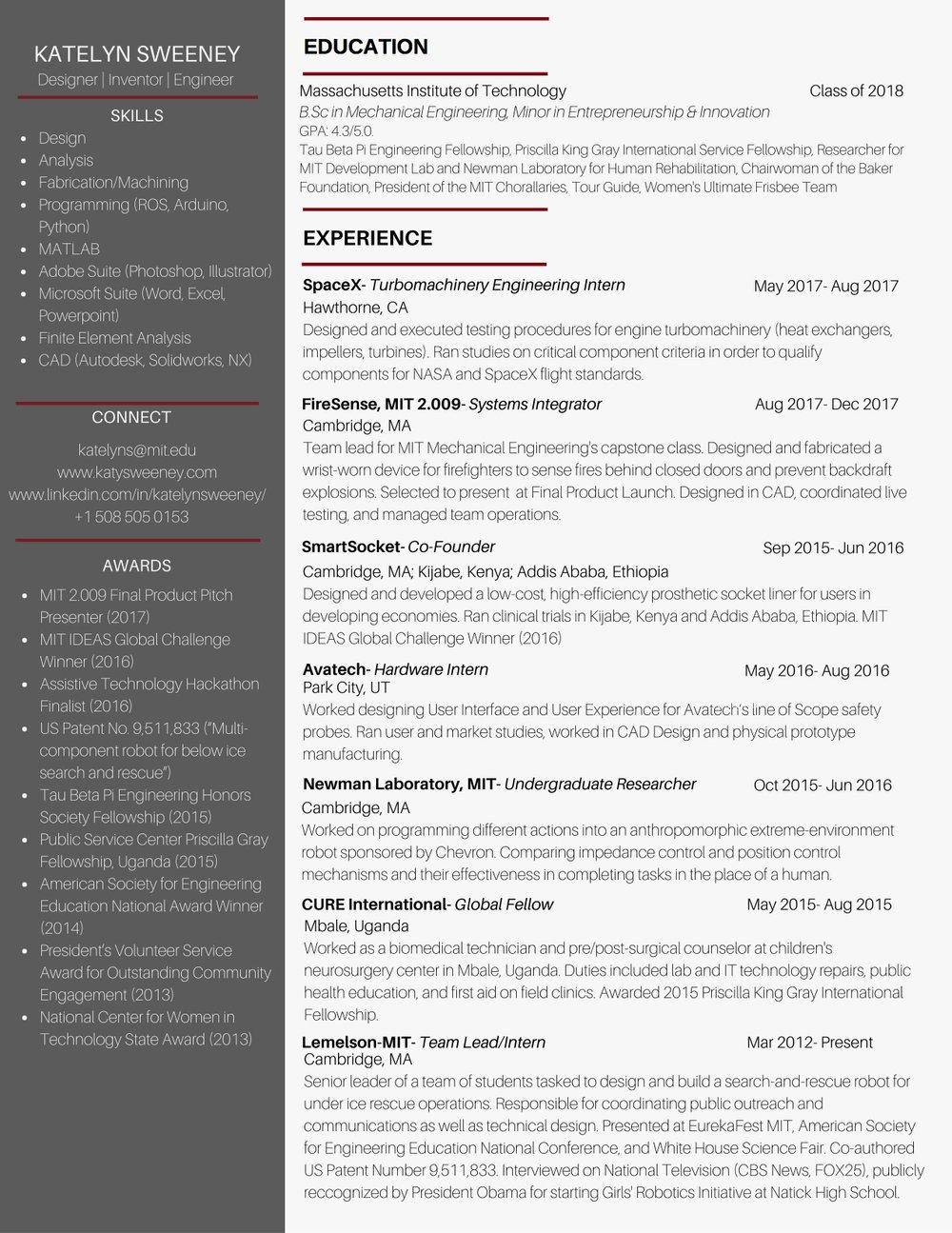 Resume — Katelyn Sweeney