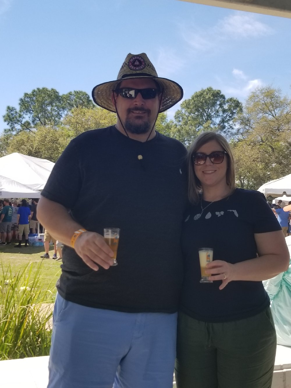 Manager, Michelle, and her husband Dave enjoying the beautiful day.