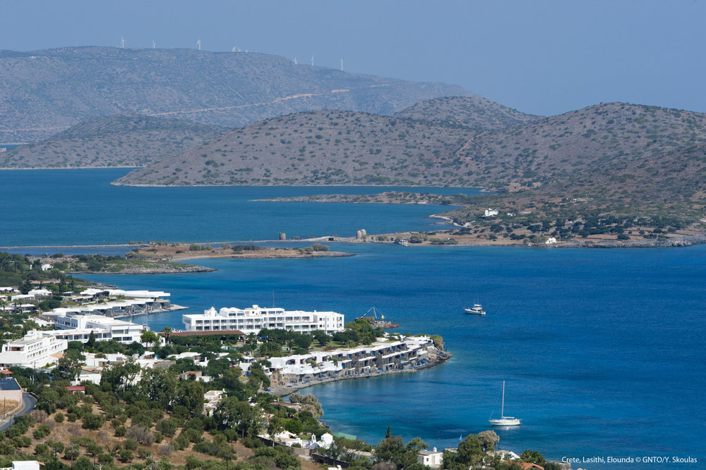 View over Elounda
