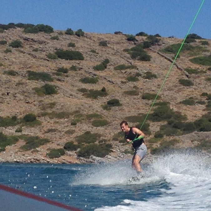 Get a taste of water-skiing...