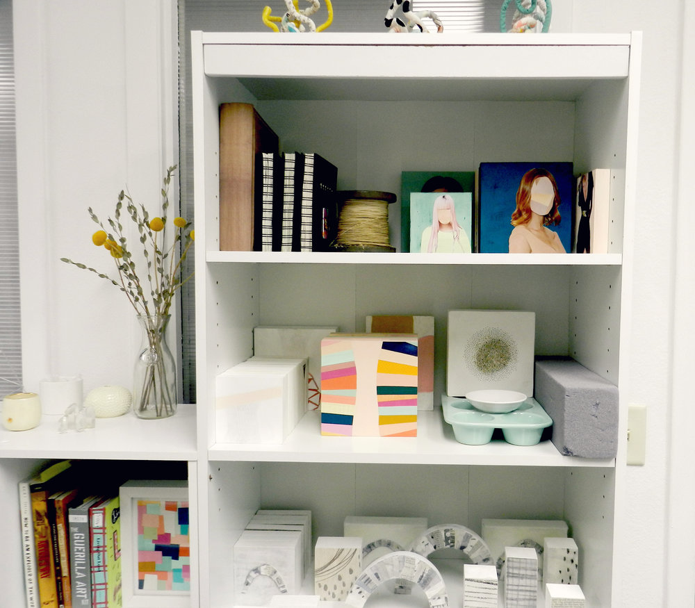 seek and be studio bookcase