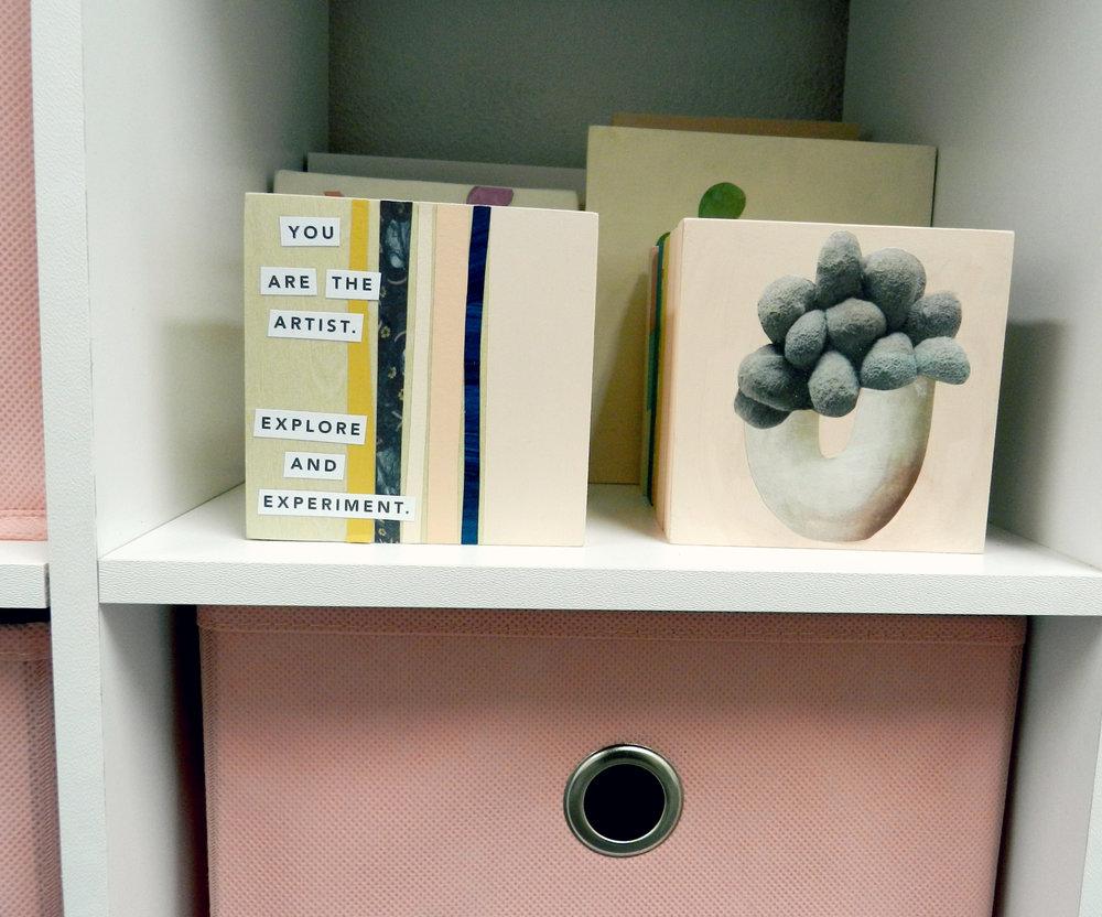 seek and be studio bookcase art