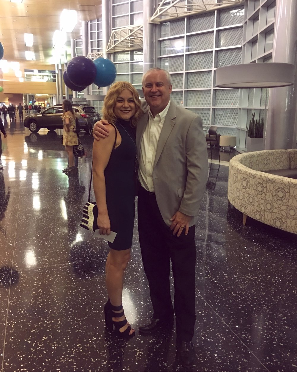 Kent Pyle with his niece Alicia at the Grand Wayne Center