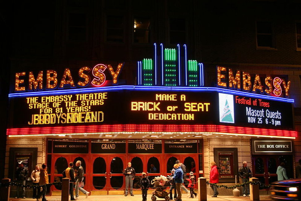 The Embassy Theatre in Downtown Fort Wayne
