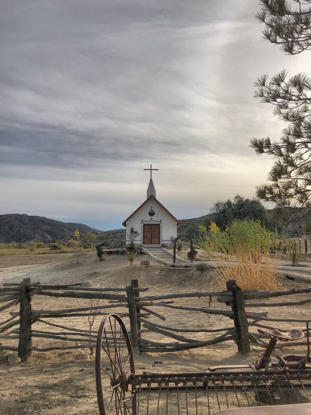 The church at Rancho Meling.