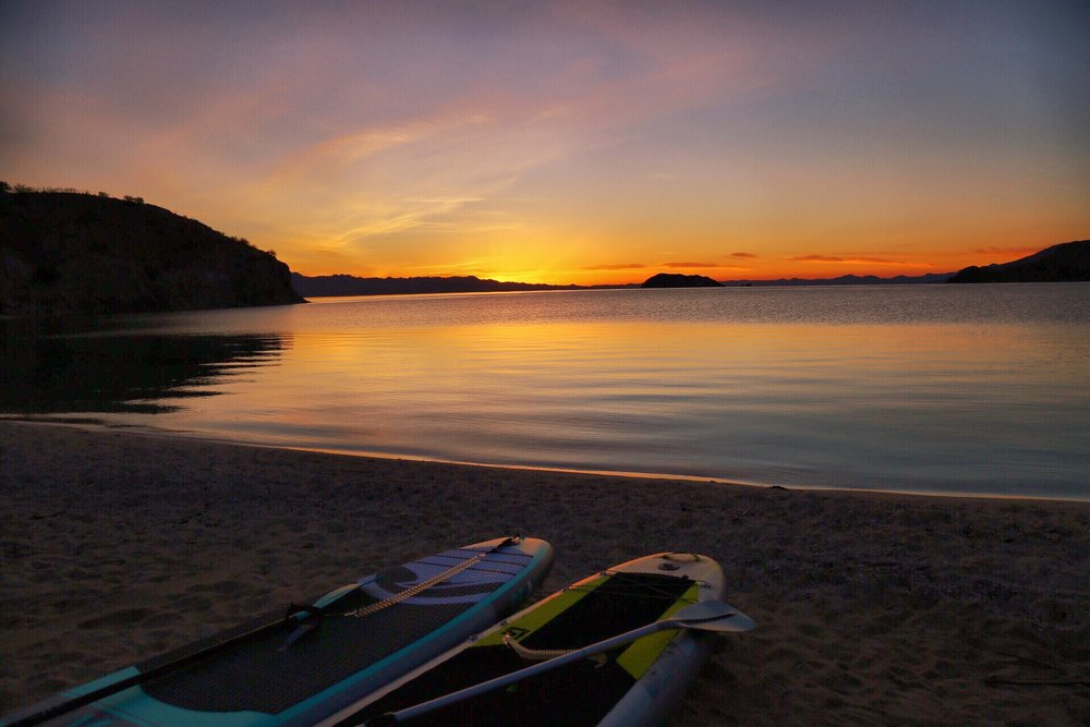 Sunrise and glassy waters- time to get the boards out!
