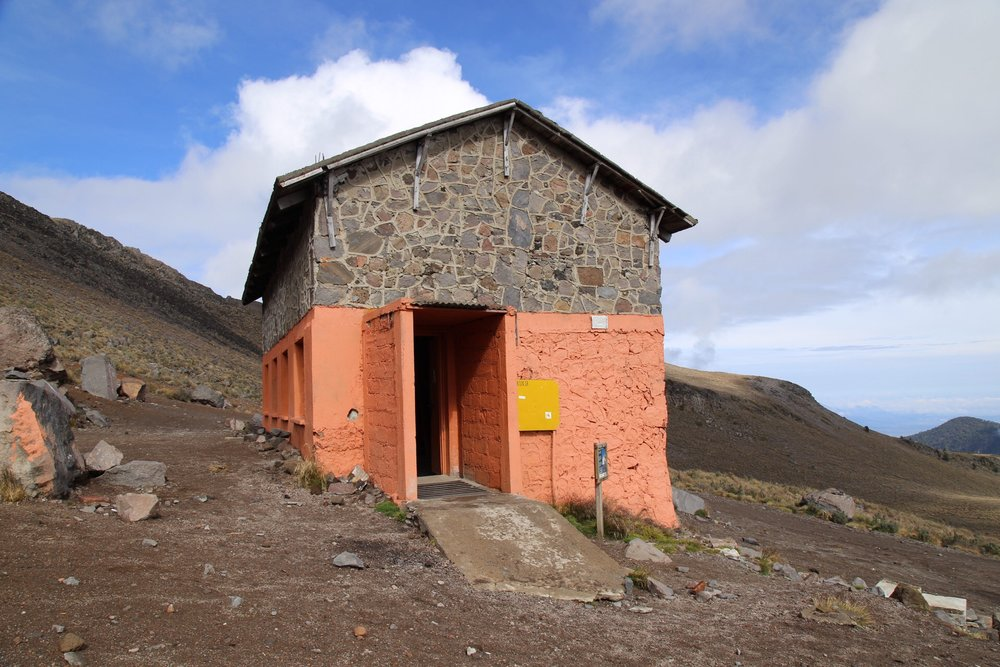 The stone hut at basecamp- an austere place for climbers to crash before and after summit attempts.