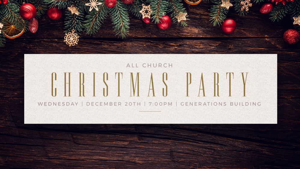 Join us on December 20th as we celebrate Christmas with an All Church Christmas Party. Come dressed in your ugliest sweater, enjoy delicious desserts, and watch the classic Christmas movie Elf.